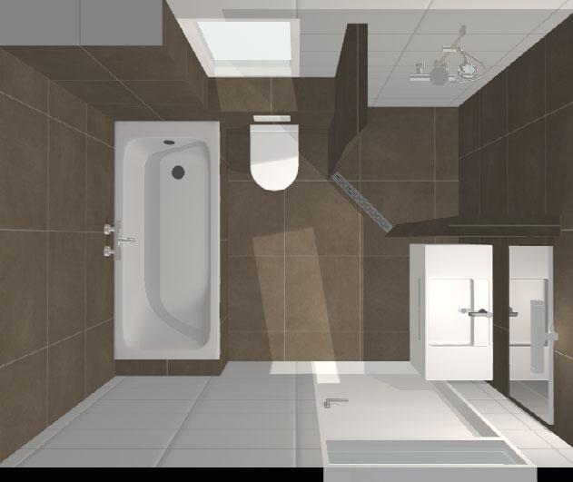 Badkamer enschede bruin wit installatiebedrijf r van baren - Badkamer beige en bruin ...