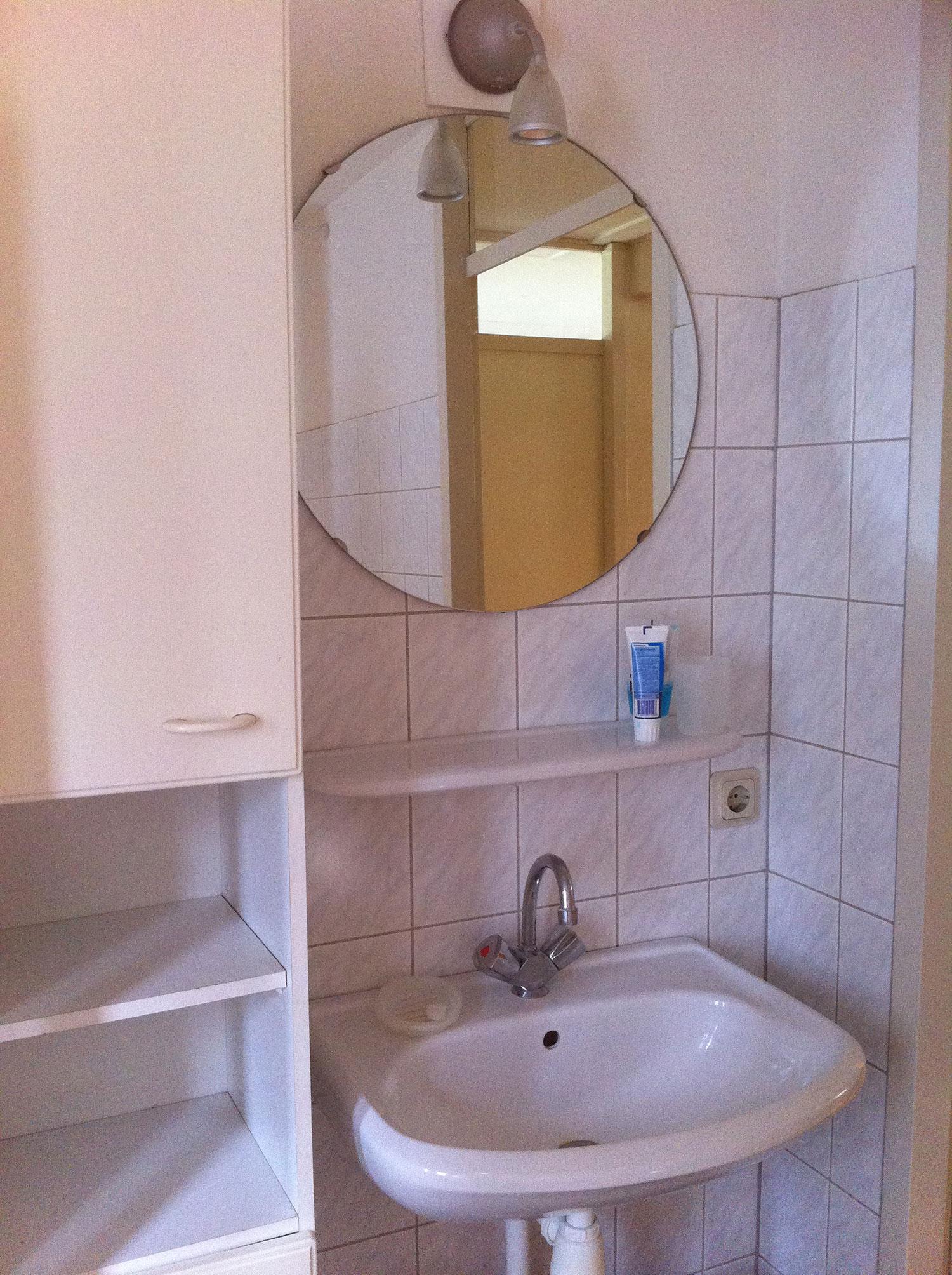Badkamer Enschede (bruin/wit) | Installatiebedrijf R. van Baren